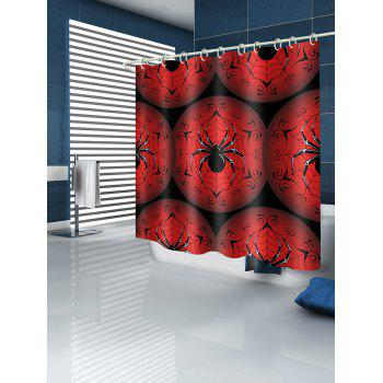 Spider Pattern Waterproof Bathroom Shower Curtain - multicolor W59 INCH * L71 INCH