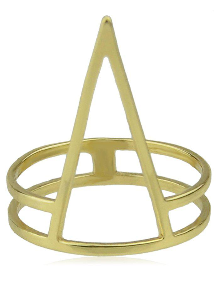 Hollow Geometric Shaped Alloy Finger Ring - GOLD ONE-SIZE