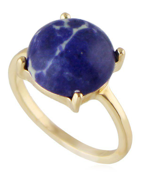 Fake Gem Alloy Finger Ring - BLUE