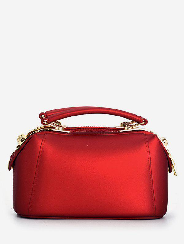 Top Handle Jelly Candy Chic Crossbody Bag - RED HORIZONTAL