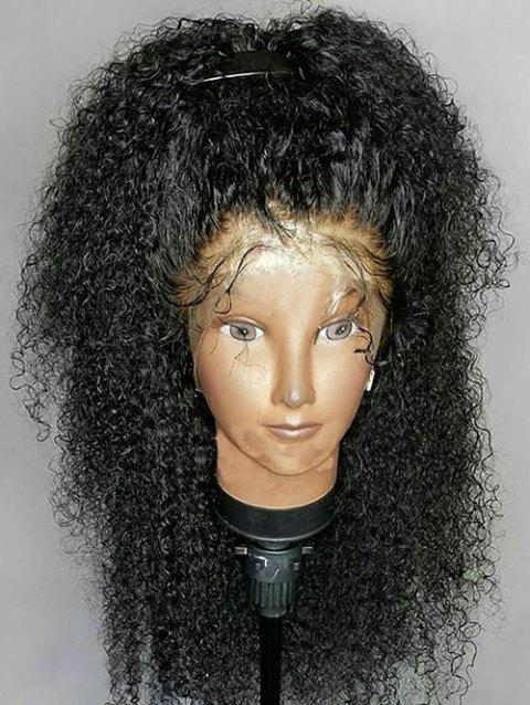 Heat Resistant Synthetic Free Part Long Curly Lace Front Wig - BLACK