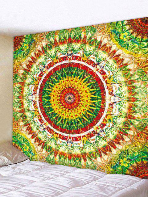 Colorful Mandala Print Tapestry Wall Art - multicolor W59 INCH * L51 INCH