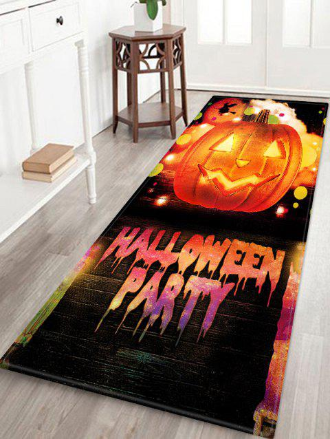 HALLOWEEN PARTY Pumpkin Pattern Anti-skid Flannel Area Rug - HALLOWEEN ORANGE W16 INCH * L47 INCH