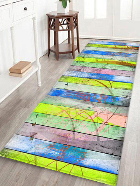 Wood Grain Forest Pattern Anti-skid Flannel Area Rug - multicolor W16 INCH * L47 INCH