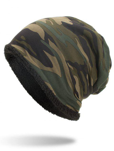 Outdoor Camouflage Printed Thicken Beanie - ARMY GREEN
