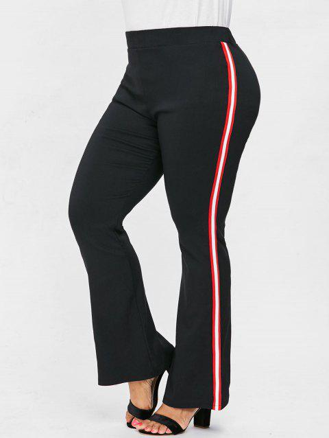 LIMITED OFFER] 2019 Plus Size Elastic Waist Flare Pants In BLACK 2X ...