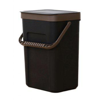 Plastic Wall-mounted Trash Can - BLACK SIZE L