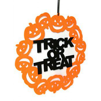 Halloween Trick or Treat Pumpkin Wall Hanging Decoration - BEE YELLOW
