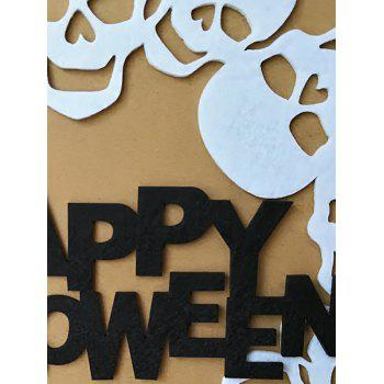 Halloween Skulls Wall Hanging Decoration - NATURAL WHITE