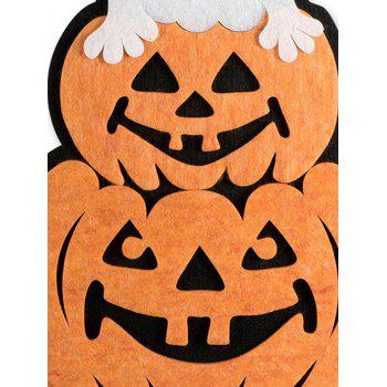 Halloween Pumpkin Ghost Wall Hanging Decoration - multicolor