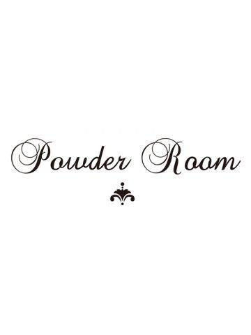 Powder Room Pattern Door Stickers