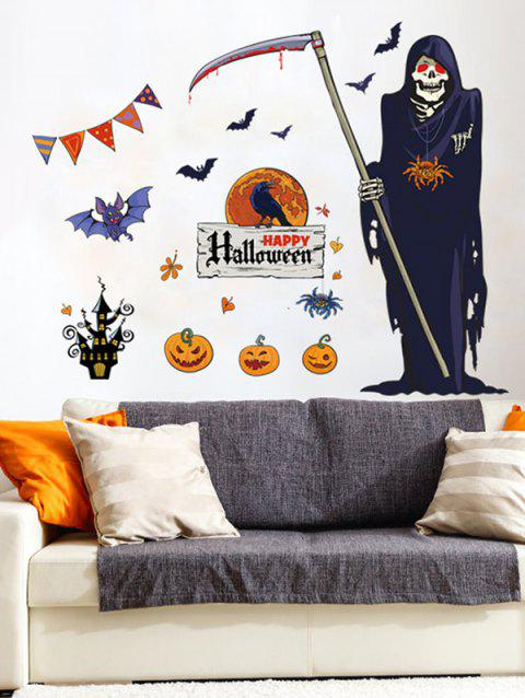 Halloween Death Print Wall Art Stickers - multicolor