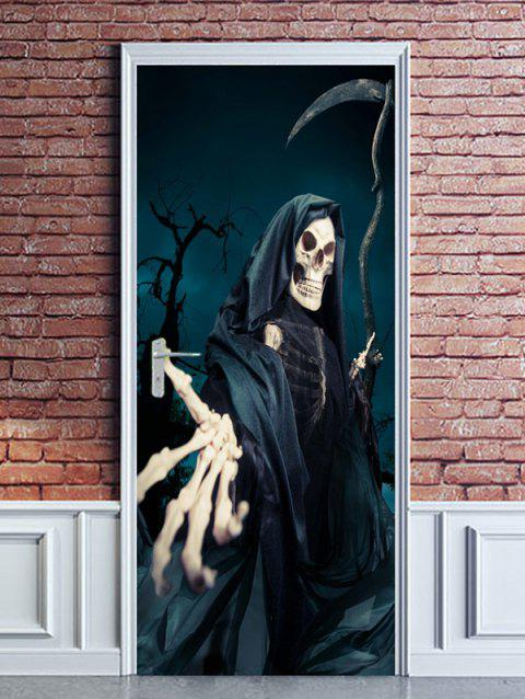Halloween Night Death Pattern Door Stickers - multicolor 38.5*200CM*2PCS