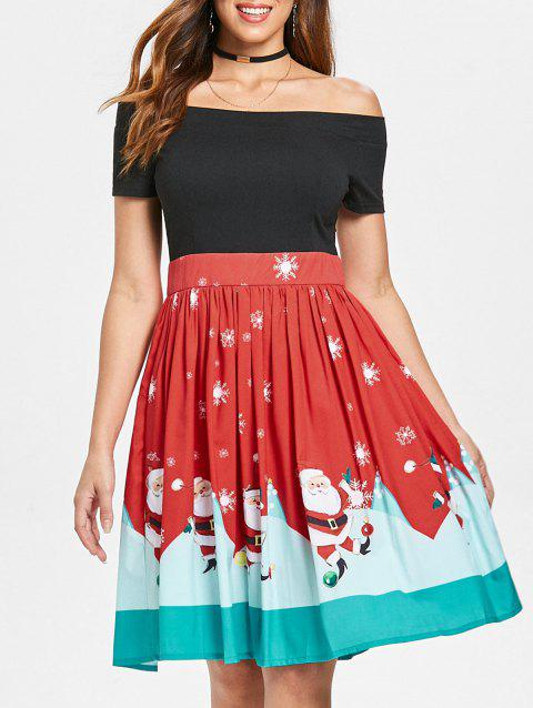 2b74a236e4080 50% OFF] 2019 Christmas Off The Shoulder Swing Dress In RED | DressLily