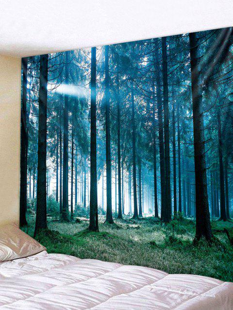 Sunlit Forest Print Tapestry Wall Art - multicolor W79 INCH * L59 INCH
