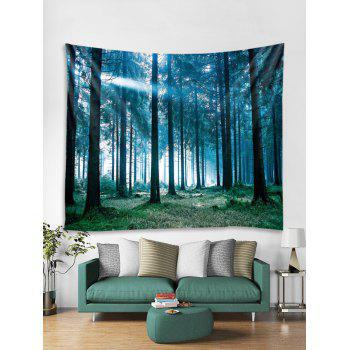 Sunlit Forest Print Tapestry Wall Art - multicolor W79 INCH * L71 INCH