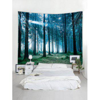 Sunlit Forest Print Tapestry Wall Art - multicolor W59 INCH * L59 INCH