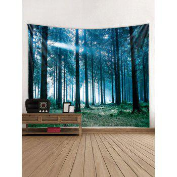 Sunlit Forest Print Tapestry Wall Art - multicolor W91 INCH * L71 INCH