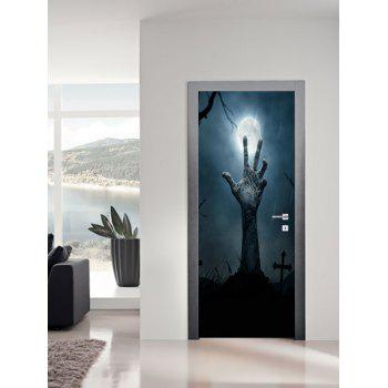 Halloween Zombie Hand Pattern Door Stickers - multicolor 38.5*200CM*2PCS