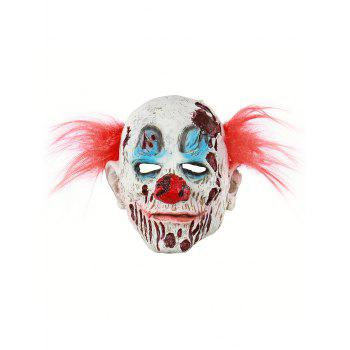 Blood Clown Mask Halloween Accessories - multicolor