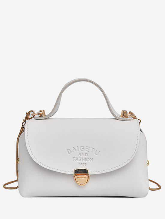 Chic Going Out Flap Crossbody Bag - WHITE HORIZONTAL