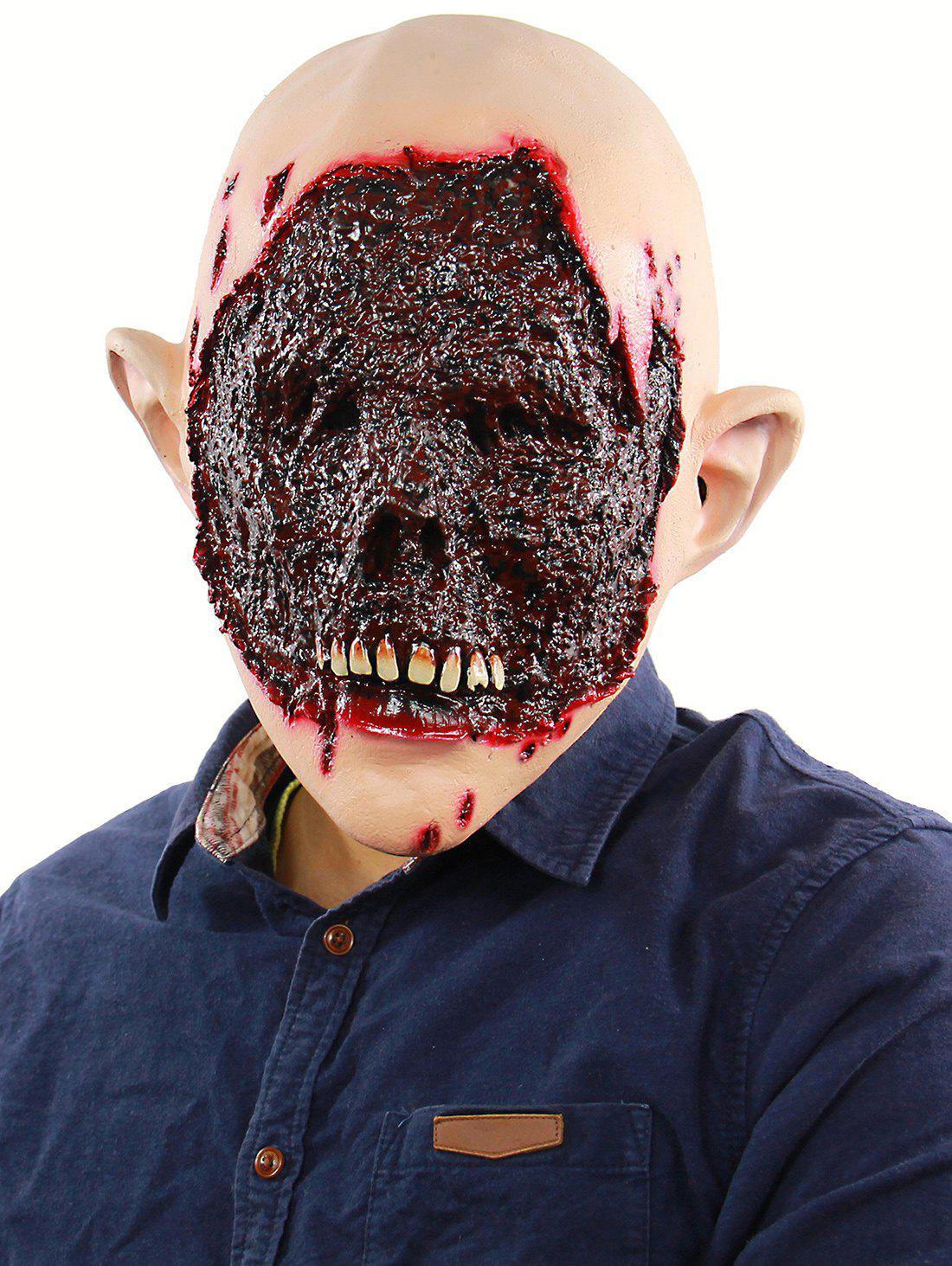 Blood Zombie Face Mask Halloween Accessories - multicolor