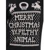 Skew Neck Merry Christmas Print Sweatshirt - BLACK M
