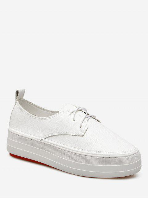 Low Top Thick Sole Loafers Sneakers - WHITE 39