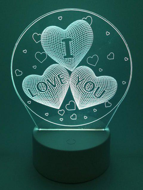 I Love You Heart Ombre Vision Changing Lamp - WHITE