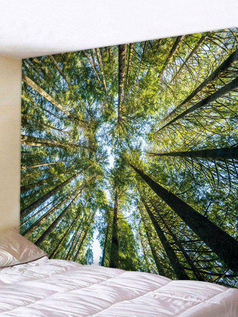 Towering Trees Printed Wall Tapestry Art Decoration - multicolor W91 INCH * L71 INCH