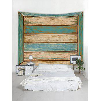 Paint Wood Pattern Tapestry Wall Art Decoration - multicolor W91 INCH * L71 INCH