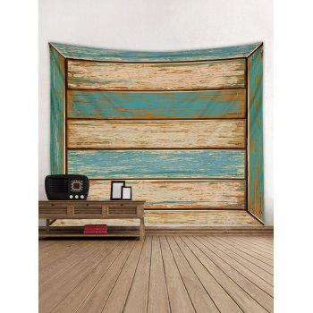 Paint Wood Pattern Tapestry Wall Art Decoration - multicolor W79 INCH * L71 INCH
