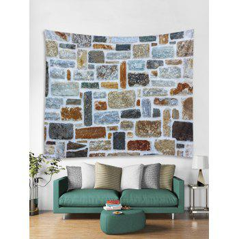 Stone Wall Printed Tapestry Art Decoration - multicolor W59 INCH * L59 INCH