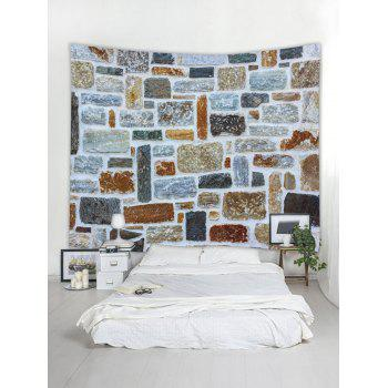 Stone Wall Printed Tapestry Art Decoration - multicolor W91 INCH * L71 INCH