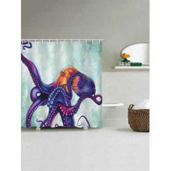 Colorful Octopus Print Waterproof Shower Curtain - multicolor W71 INCH * L71 INCH