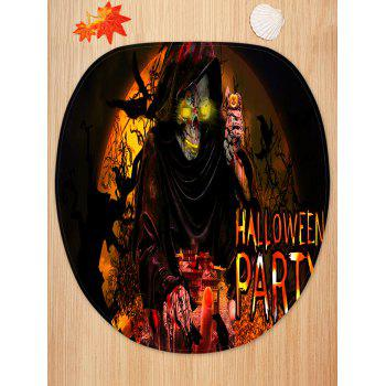 Halloween Party Death Pattern 3 Pcs Toilet Mat Set - multicolor