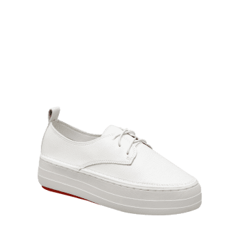 Low Top Thick Sole Loafers Sneakers - WHITE 36