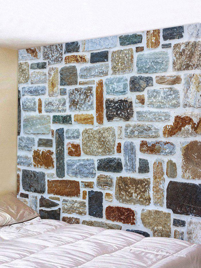 Stone Wall Printed Tapestry Art Decoration - multicolor W79 INCH * L59 INCH