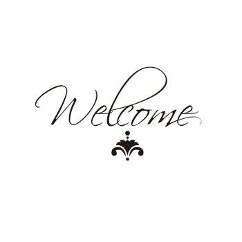 Welcome Decorative Wall Stickers - multicolor