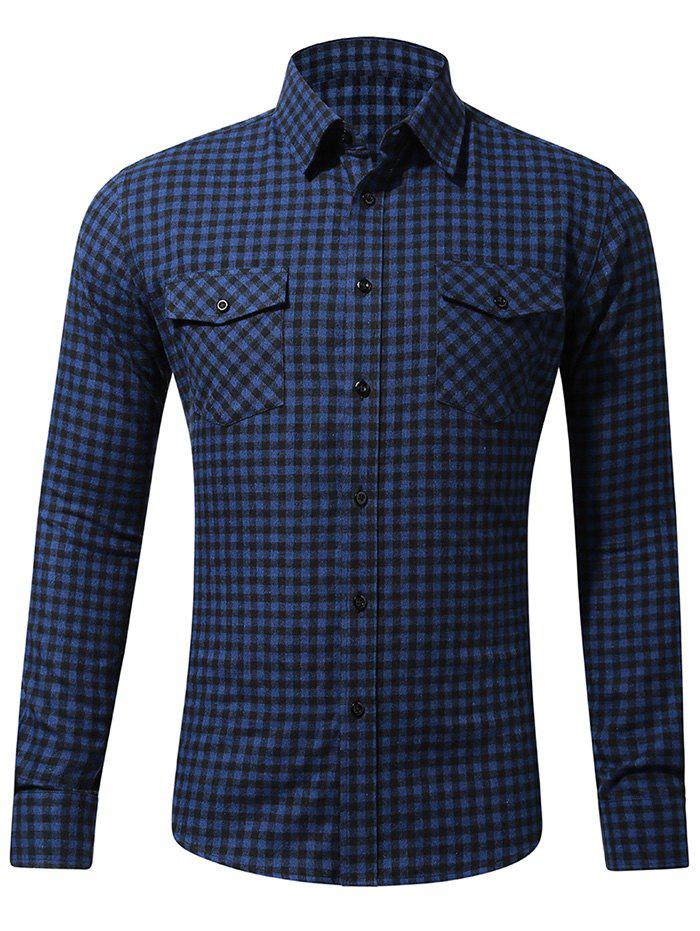 Casual Button Up Tartan Design Shirt