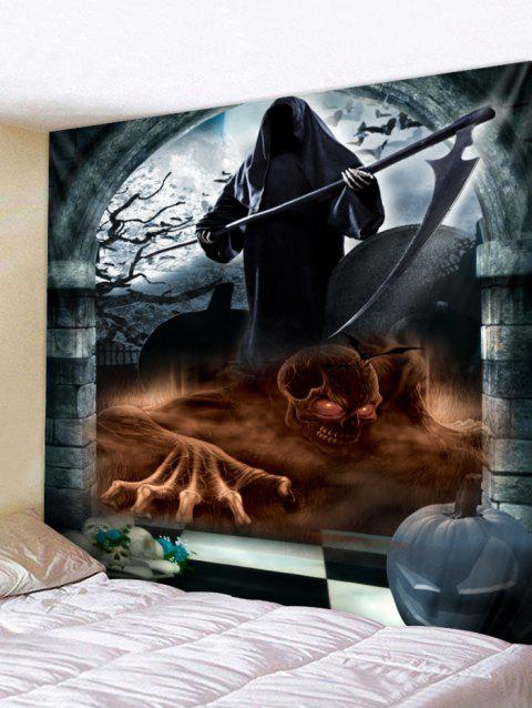 Halloween Death Print Tapestry Wall Art - multicolor W118 INCH * L79 INCH