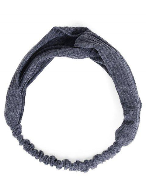 Vintage Solid Color Elastic Hair Band - GRAY