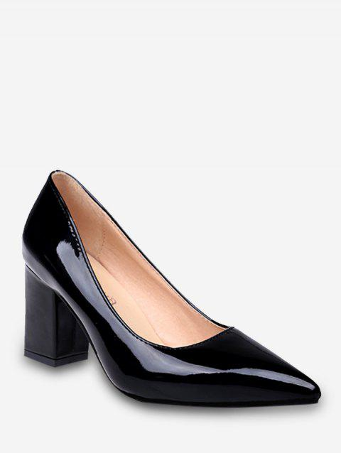 Plus Size Pointed Toe Leisure Going Out Pumps - BLACK 42