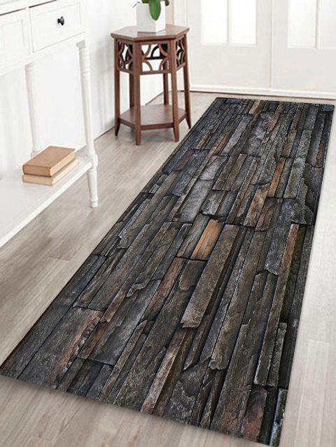 Stone Printed Water Absorption Area Mat - multicolor W24 INCH * L71 INCH