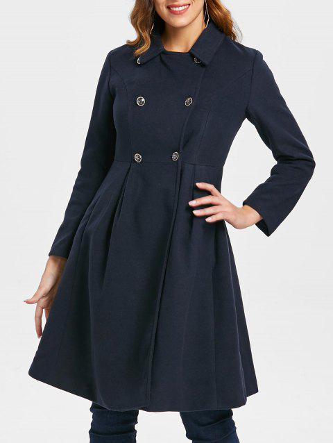 Manteau Robe avec Double Boutonnages - Cadetblue XL