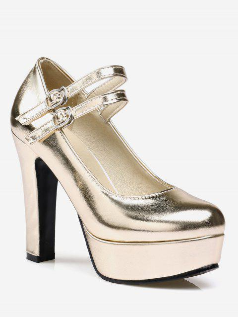 Plus Size Chic Dazzling High Heel Pumps - GOLD 40