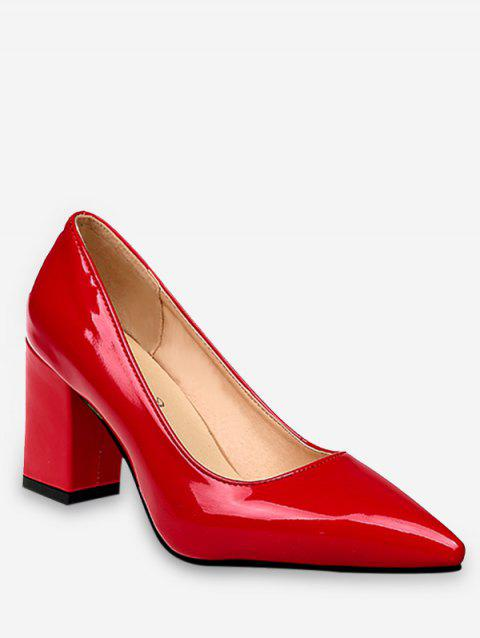 Plus Size Pointed Toe Leisure Going Out Pumps - RED 42