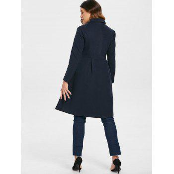 Manteau Robe avec Double Boutonnages - Cadetblue S