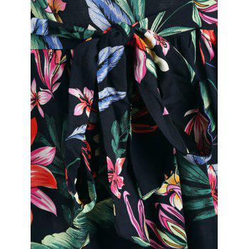 Maxi Robe Superposée Florale Imprimée - multicolor M