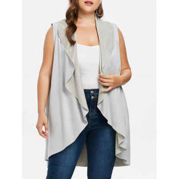 Plus Size High Low Draped Vest